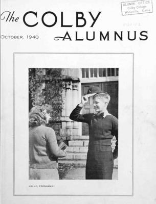 Colby Alumnus Cover: October 1940