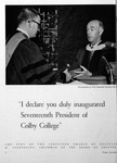 Inauguration of Colby President Strider, Colby Alumnus 1960