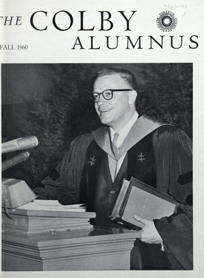 Colby Alumnus: Cover, volume 50, number 1 (Fall 1960)