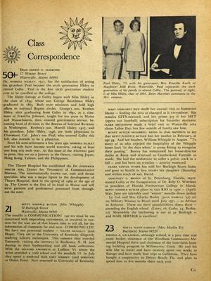 Colby Alumnus: Class Correspondence (1970)