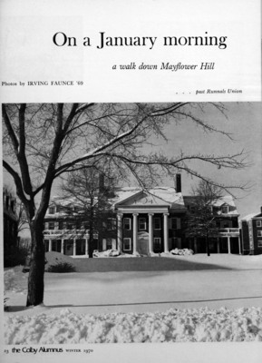Colby Alumnus: Photo Spread (Winter 1970), part 1 of 3