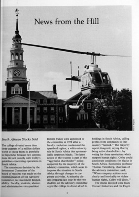 Colby Alumnus: News from the Hill (1980)