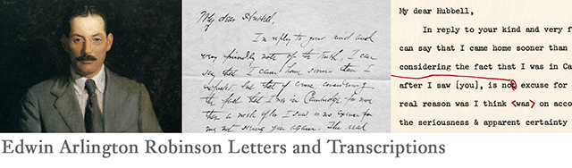 Edwin Arlington Robinson Letters and Transcriptions