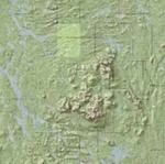 USGS Topographic Maps over a Hillshaded Digital Elevation Model