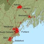 Carbon Sequestration and Major Population Centers in Maine by Jeff Carroll