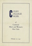 15a. Colby College Choir (Page 1)
