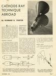 35. Cathode-Ray Technique Abroad