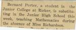 18. Bernard Porter Substitute Teacher