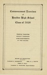 32a. Houlton Class of '28 Commencement (Page 1) by Bern Porter