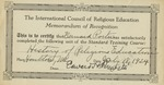 33. History of Religious Education Course Certificate by Bern Porter