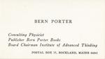 01. Bern Porter Business Card by Bern Porter
