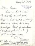 11. Letter to Bern from Francesco
