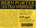 "19b. Bern Porter ""Less Than Overweight"" (Page 2)"