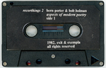 Recorthings 2: Bern Porter & Bob Holman; Aspects of Modern Poetry by Bern Porter and Bob Holman