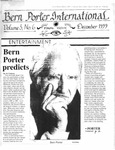 Bern Porter International: Volume 3 Number 6 (December, 1999)