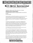 Bern Porter International: Volume 5 Number 15 (August 1, 2001)