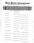 Bern Porter International: Volume 6 Number 1 (January 1, 2002)