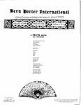 Bern Porter International: Volume 5 Number 4 (February 15, 2001)