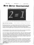 Bern Porter International: Volume 6 Number 7 (April 1, 2002)