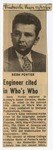 23. Engineer Cited in Who's Who by Bern Porter