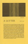 25a. A Letter - July, 1966 (Page 1) by Bern Porter and John G. Moore