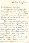 35a. Letter to Bern's Mother and Father from Helen (Page 1) by Bern Porter and Helen Porter
