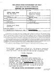 United States Civil Service Commission Report of Investigation