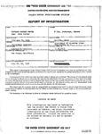 U.S. Civil Service Commission Report of Investigation