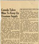 09. Canada Takes Mine to Keep Up Uranium Supply