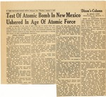 14. Test of Atomic Bomb in New Mexico Ushered in Age of Atomic Force