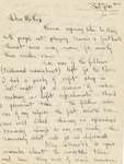 18a. Handwritten Letter to Mother 1 (Page 1)