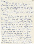 19a. Handwritten Letter to Mother 2 (Page 1)